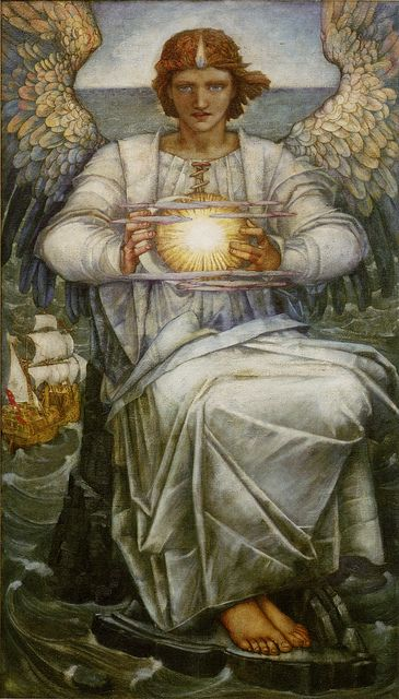 Edward Reginald Frampton,   The angel of the sea, 1906