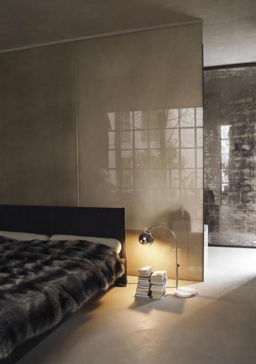 Screen wall loft Beautiful bedroom