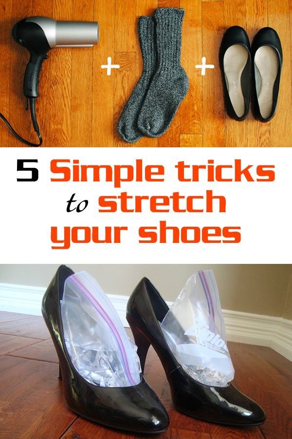 5 simple tricks to stretch your shoes