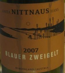 Nittnaus, Austria, a great name in Zweigelt, Blaufraenkisch and St. Laurent as well.