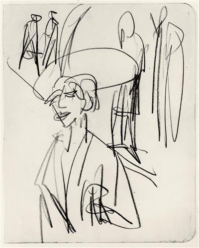 Study on Red Tart - Ernst Ludwig Kirchner