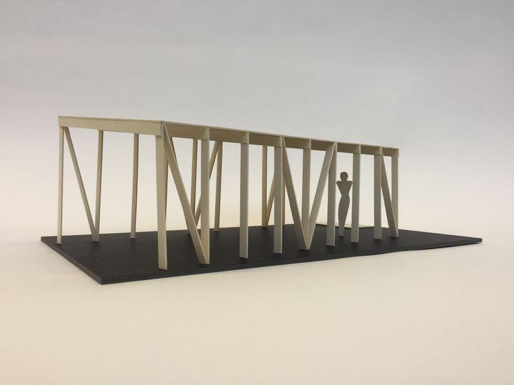 Modell Architektur  Überdachung Grillstelle