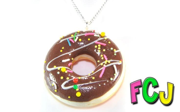 Chocolate Doughnut Necklace