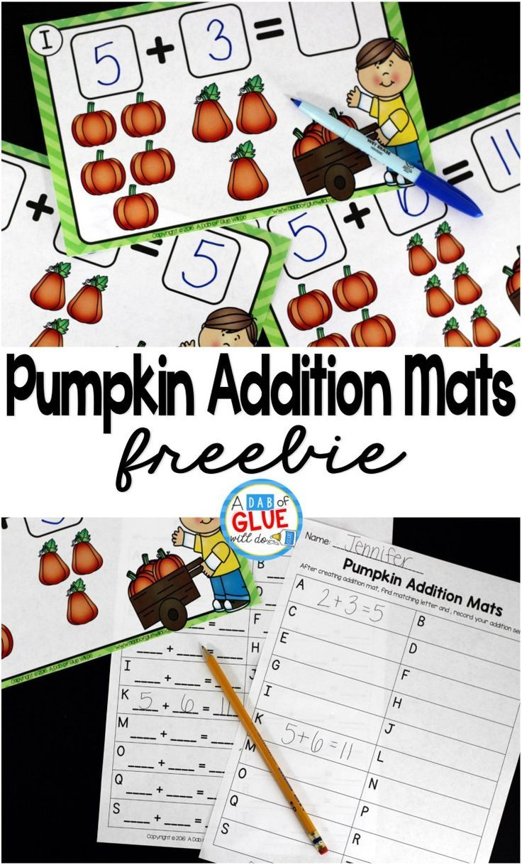 Pumpkin Addition Mats is the perfect fall math center for your preschool, kindergarten, and first grade students. This printable covers numbers up to 12 and also has two recording sheets for students to record their addition sentences.