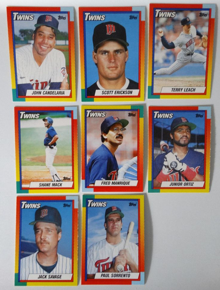 1990 Topps Traded Minnesota Twins Team Set of 8 Baseball Cards #MinnesotaTwins