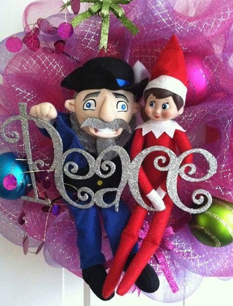 Elf and Moshe the Mensch on a Bench