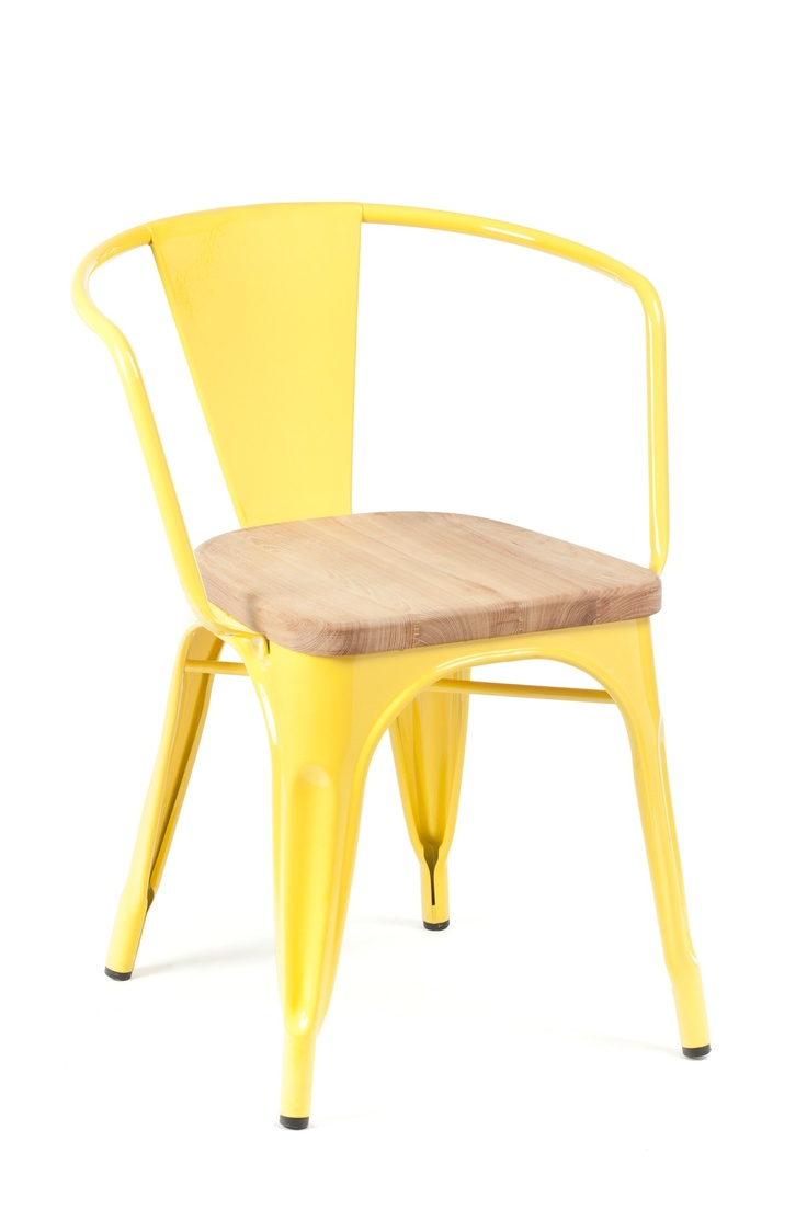 Broom chair for emeco in 2012 to showcase the properties of a new wood - Marais Arm Chair Wood Seat Yellow Industry West