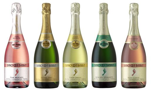 Review: Barefoot sparkling wines (their recommendation: extra dry champagne -> though suggest better options from Cava, Prosecco, Cremant, and Yellow Tail)