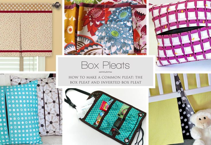 How To Make A Box Pleat Or Inverted Box Pleat: Diy Clothes Sewing Fabric, How To Sew, Sewing Tips, Handicrafts Sewing, Crafty Sewing, Crafts Sewing Fabric, Sewing Crafty