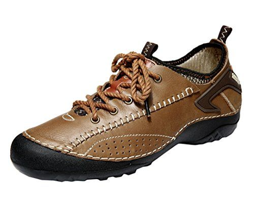 [camel active] 2017 Men's Model Shoes Hiking-Shoes Leather Low-Top Lace-Up Simple Outdoor Casual Red Brown 9D(M)US