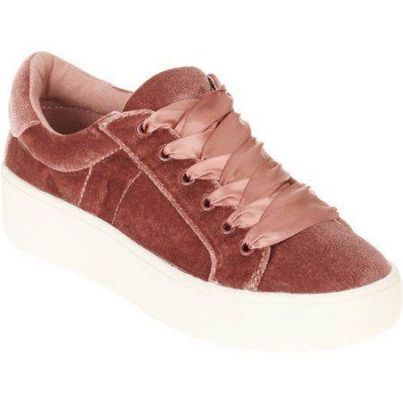 Big Buddha Women's Velvet Lace-up Shoe, Size: 11, Pink