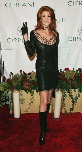 Model Angie Everhart attends the Sean 'P Diddy' Combs 35th Birthday Celebration on November 4 2004 in New York City