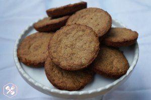 cookies fit de pasta de amendoím e coco