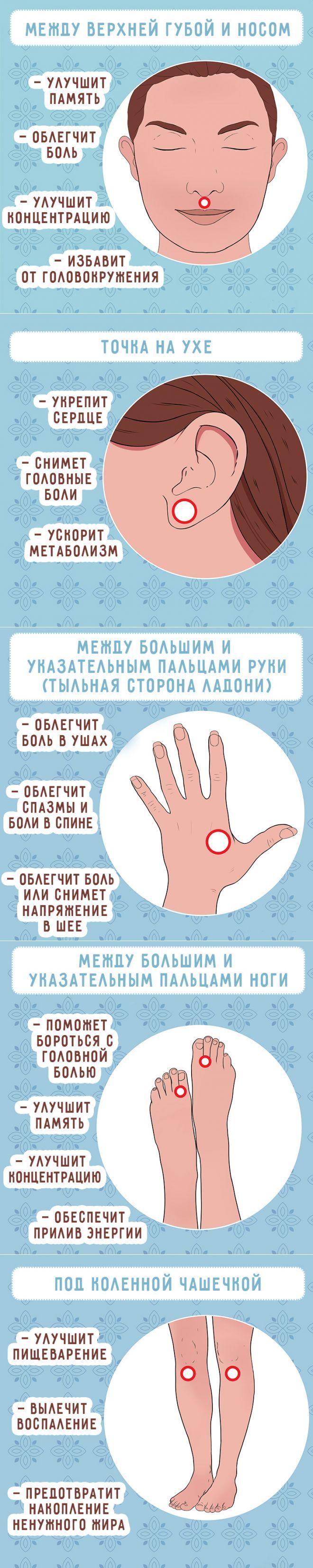 Самомассаж для крепкого здоровья: 7 активных точек