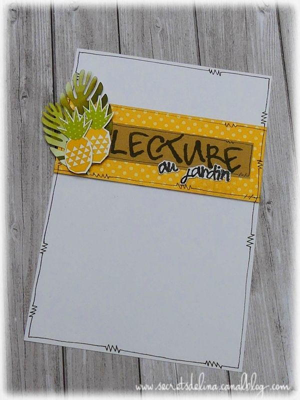 carte lecture au jardin ete ananas #card #pineapple #summer #secretsdelina