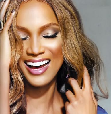 CB: Tyra banks, stunning. For more information on how to get perfect skin like hers consult The Book.