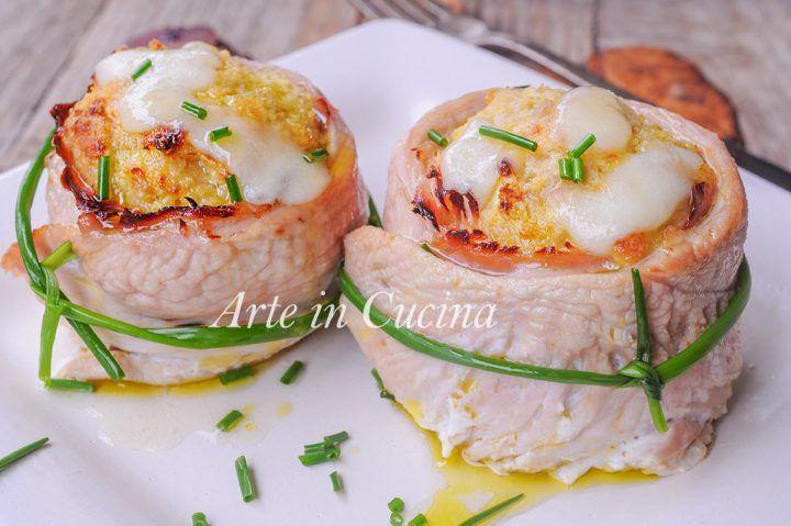 Girelle di tacchino al forno, girelle ripiene, ricetta leggera, piatto facile e veloce, idea per la cena o pranzo, in poco tempo, piatto semplice con carne bianca