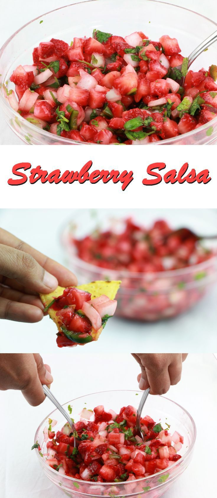 Strawberry Salsa.... The Strawberry Salsa recipe that just screams summertime. A Super easy Strawberry Salsa Recipe that makes a delicious appetizer or snack. With just few ingredients, there is zero excuse not to make a batch this weekend. I hope you enjoy this delightful salsa. Grab A tortilla chip and dine in!!!!