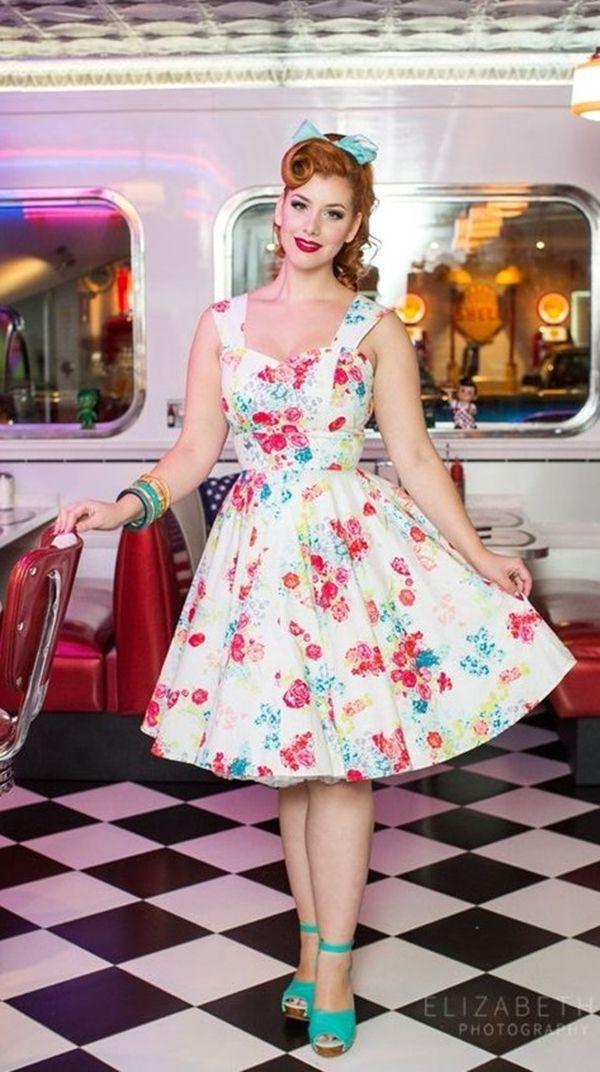 Welche Schuhe zu tragen mit 50er Jahre Swing Dress | Kleider