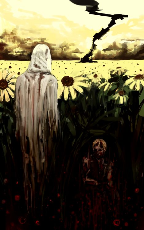 Strange but very cool art of Ruvik from The Evil Within... look at the flowers Ruvik... just look at the flowers... -Will
