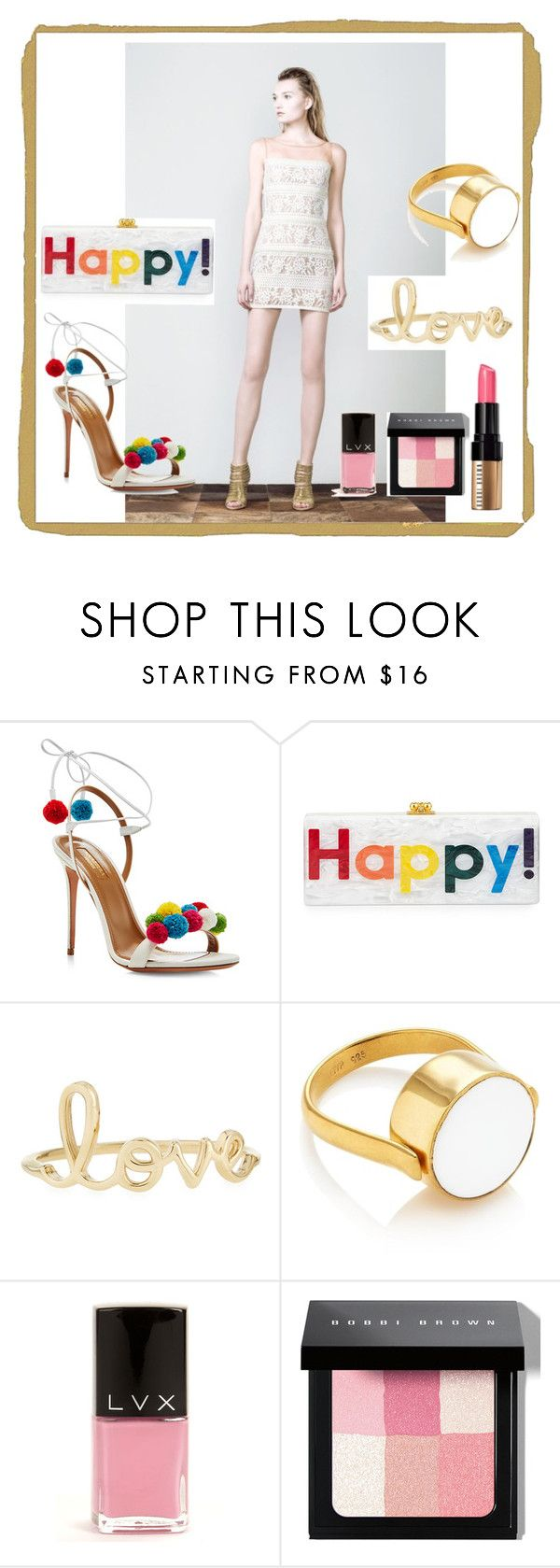 """Elegantly sexy chic"" by soniahthelabel on Polyvore featuring Aquazzura, Edie Parker, Sydney Evan, LVX and Bobbi Brown Cosmetics"