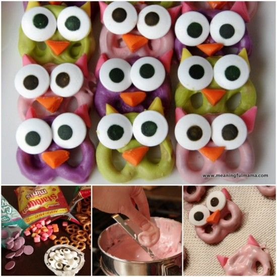 How to make Owl Pretzels