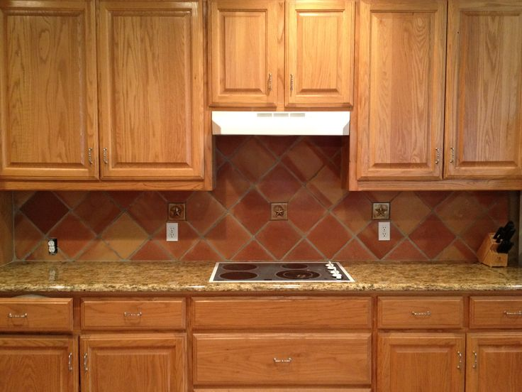 Mexican saltillo tiles backsplash 8x8 saltillo tile in for 8x8 kitchen ideas
