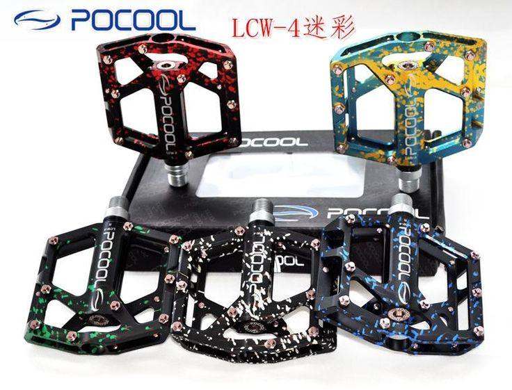 [Visit to Buy] POCOOL LCW - 4 MTB bike pedales camouflage mountain road bicycle CNC sealed pearing pedals bicicleta mtb parts free shipping #Advertisement