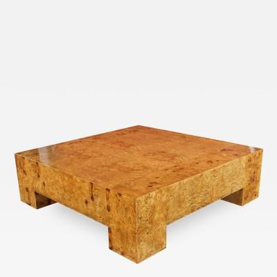 Burl Wood Coffee Table by Milo Baughman by Milo  Baughman