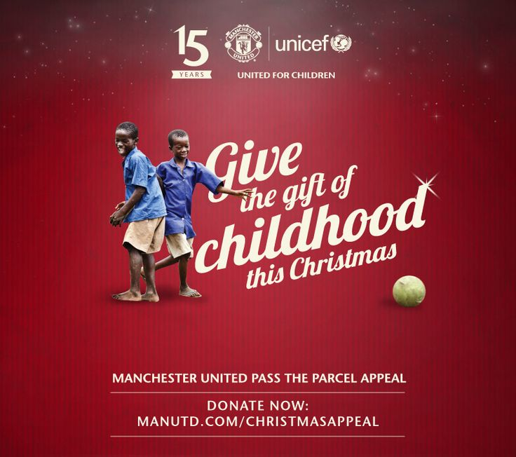@manutd and UNICEF have teamed up to help give gifts of sporting equipment to underprivileged children around the world.