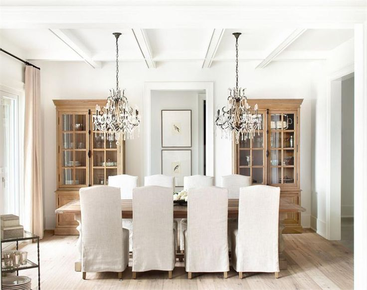 Light Transitional Dining Room by Kelly Deck on HomePortfolio