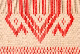 Hermoso diseño realizado en telar mapuche. Mi próximo desafío