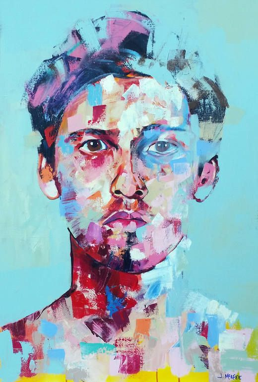 """""""Marco in Blue,"""" portrait painting by Jonathan McAfee 