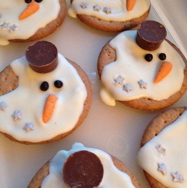 Gezien op #instagram. Sneeuwpopkoekjes