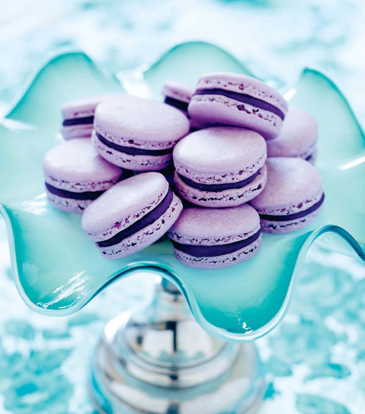 Black Currant Macarons - Sink your teeth into something fruity this summer with this super-chewy sweet!