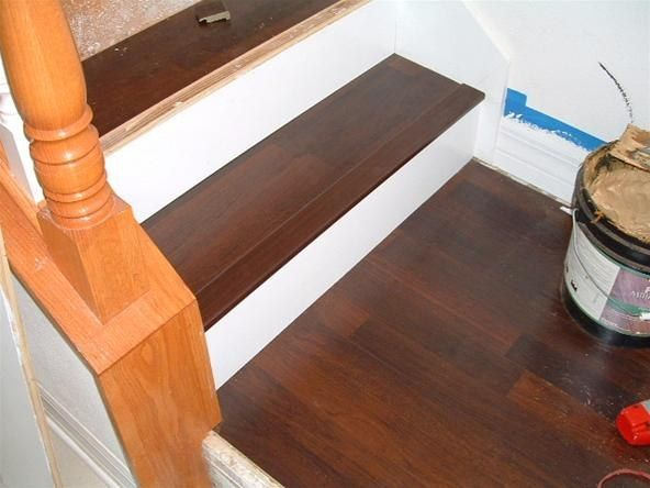 Etonnant Installing Vinyl Plank Flooring On Stairs Photos
