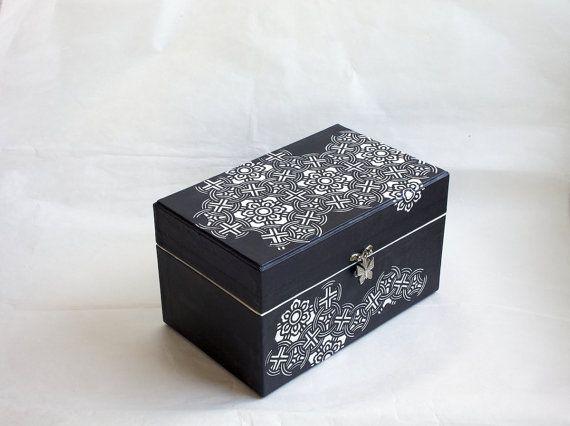 Black and White Jewellery Box