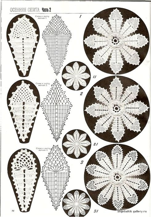Lots of crochet flower motif patterns