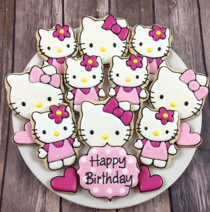 Hello Kitty Cookies by Whoosbakery on Etsy https://www.etsy.com/listing/246566344/hello-kitty-cookies