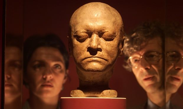 The death mask of William Blake.William Blake's life-mask, created by his wife Catherine, on display at Tate Britain. Photograph: Frank Baron for the Guardian Frank Baron/Guardian