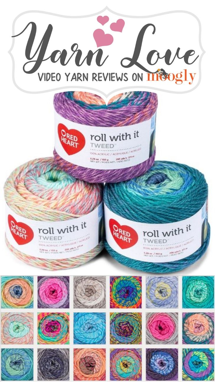 Red Heart Roll With It Tweed Yarn Love Video Yarn Review Red
