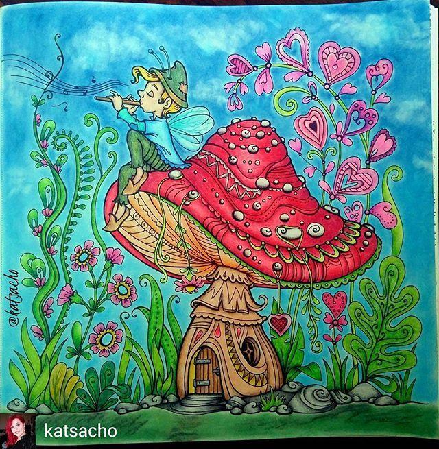 @Regrann from @katsacho -  Kraina Baśni  #mariolabudek #krainabasni #kredki #astra #pastels #suchepastele #masterpastel #kolorowanka #kolorowanka #kolorowamafia #kolorowankidladorosłych #colouringbook #colouring #coloring #colouringforadults #coloredpencils #colouredpencils #artherapy #bayan_boyan #nossa_vida_colorida #vemcolorir #divasdasartes #Regrann