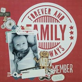 New Member Scrapbook Layout by Amy
