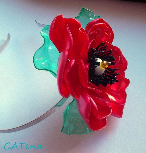 plastic bottles jewelry poppy