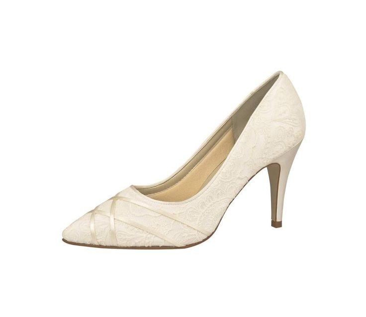 Luxury wedding shoes, Kanten bruidsschoenen, Trouwschoen met kant, Wedding pump, Bridal high heels, Online webshop levering NL & BE www.sayyestothedress.nl / www.syttd.com
