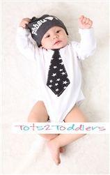 Baby Long Sleeve Tie Romper