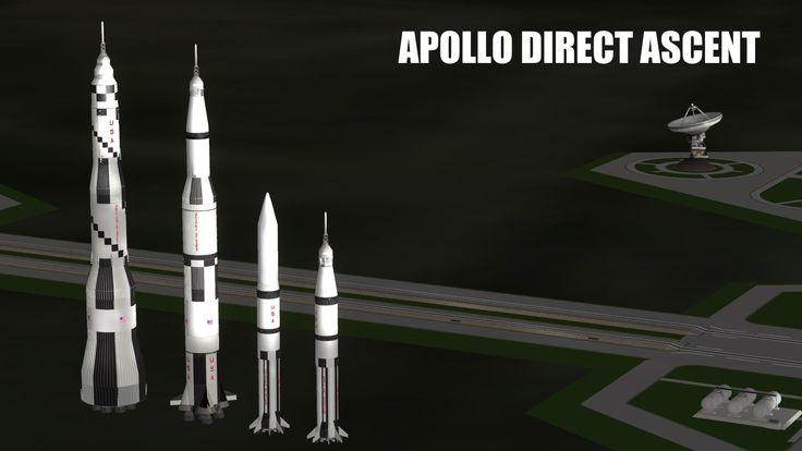 KSP - Apollo Direct Ascent - South Pole Landing - RSS / RP-0