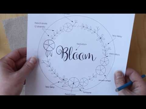 Bloom Hand Embroidery Pattern - Cutesy Crafts