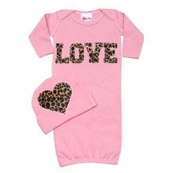 Bundle Of Love Cheetah LOVE Set - Newborn Baby Clothes