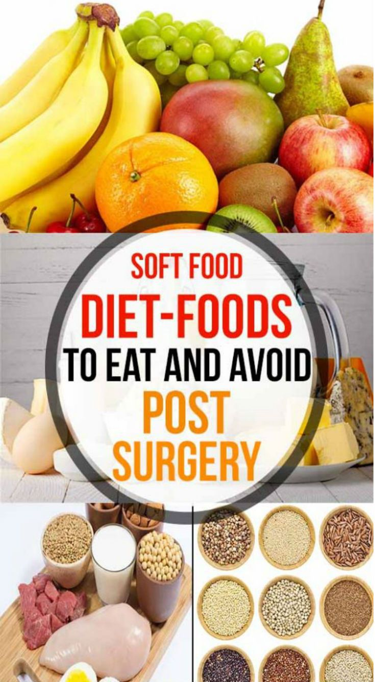 soft food diets after surgery
